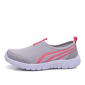 Air Mesh  Stripe Design Slip on Sneakers - Tsubo Shoes