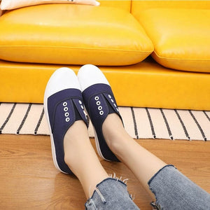 Breathable Soft Canvas Flats Sneakers