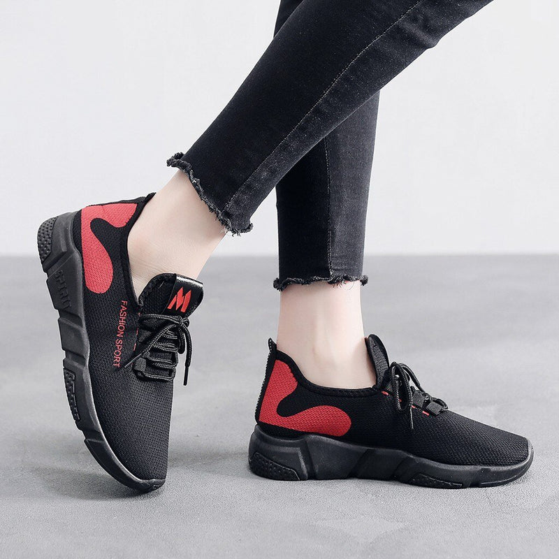 Waves Print Non Skid Women Sneakers - Tsubo Shoes