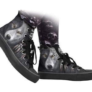 Wolf Chi Women High Top Laceup Sneakers - Tsubo Shoes