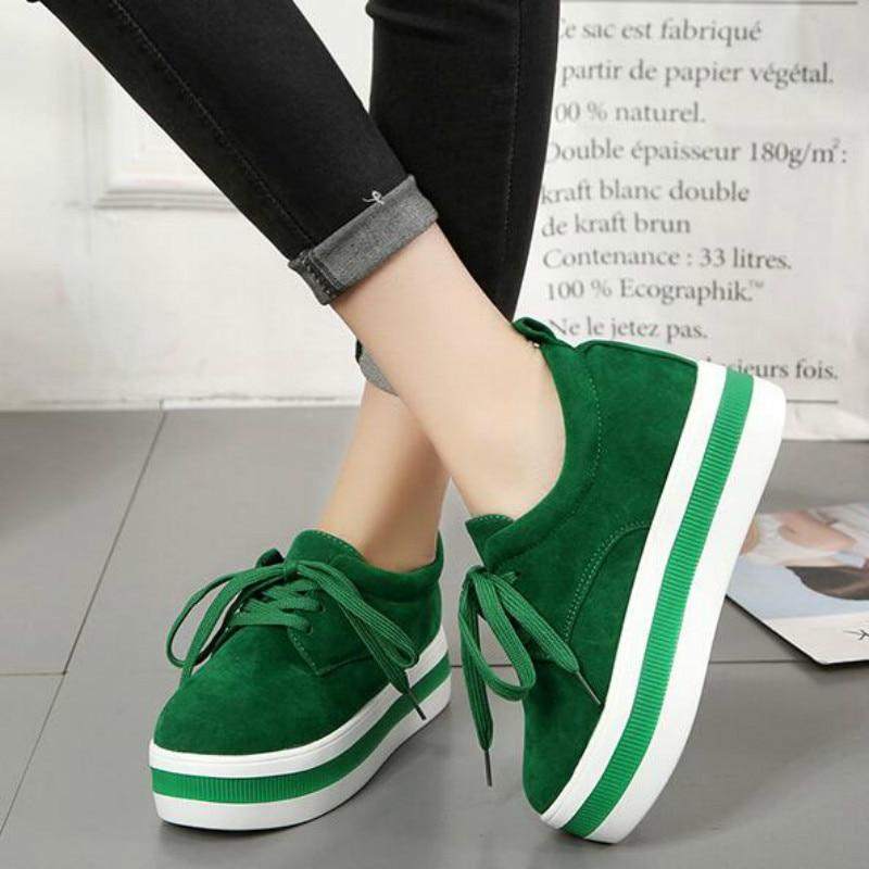 Women Casual Sneakers Lace up Striped Soles Sneakers - Tsubo Shoes