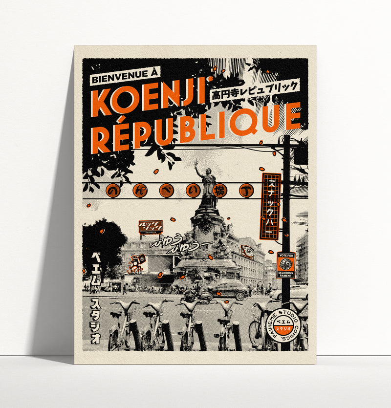 Affiche - KOENJI-REPUBLIQUE