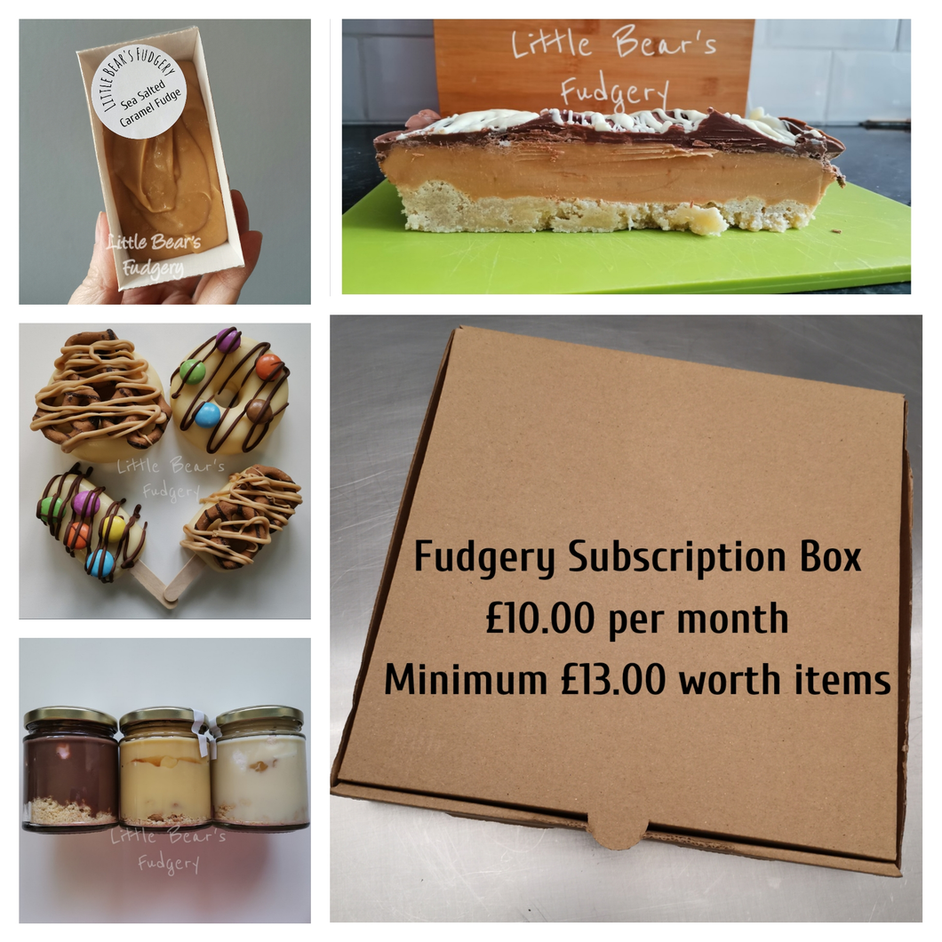 Monthly Fudge Subscription Box - Little Bear's Fudgery