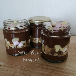 Spoonable Rocky Road Fudge Jar