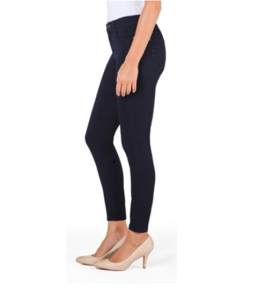 Yoga Jeans High Rise Shape Ankle Skinny #1414 in Navy