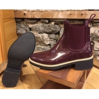 Lemon Jelly Ava 02 Wine Vegan Short Rubber Boot