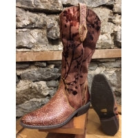 Artiste Laretilyn Western Leather Fabric Boot