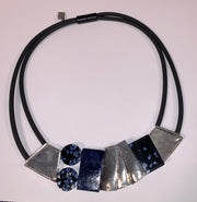 Anne-Marie Chagnon Blue Choker Length Necklace