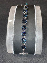 Myka B2119 Medium Cushion Rhodium Bracelet