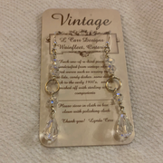 Lynda Carr Vintage Sterling Silver Beaded Earings