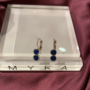 Myka E2688 Double Round Rhodium Earrings