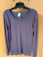 C'est Moi One Size Bamboo Long Sleeve Scoop Neck Top
