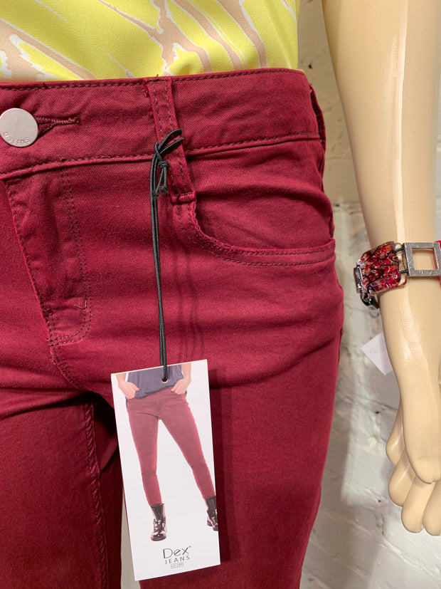 Dex Supper Skinny Woven Ruby Red Pant