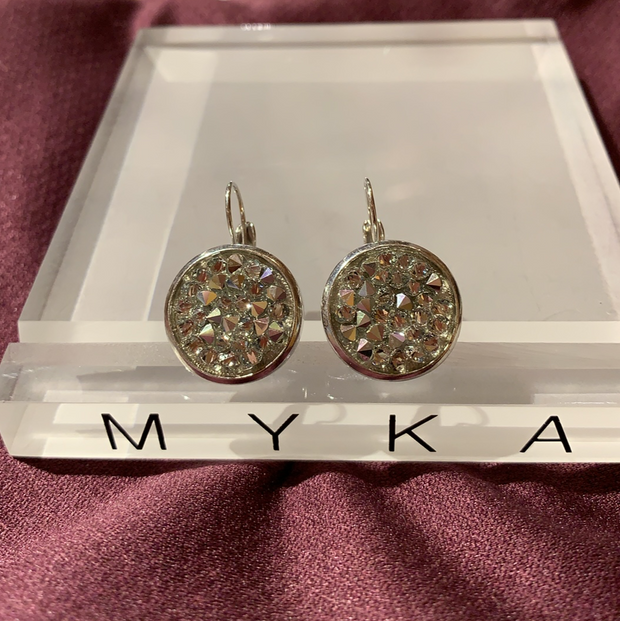 Myka E2814 Crystal Swarovski Rock Earrings