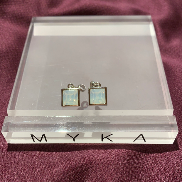 Myka Rhodium Swarovski Sliders