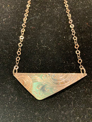 "Lynda Carr 17"" Vintage Trianglar Necklace"