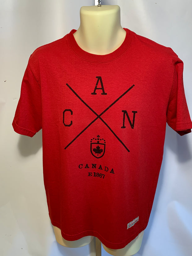 Red Canoe Men's Short Sleeve Tee Shirt