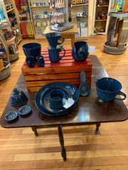 Island Stoneware Pottery Studio Blue Collection