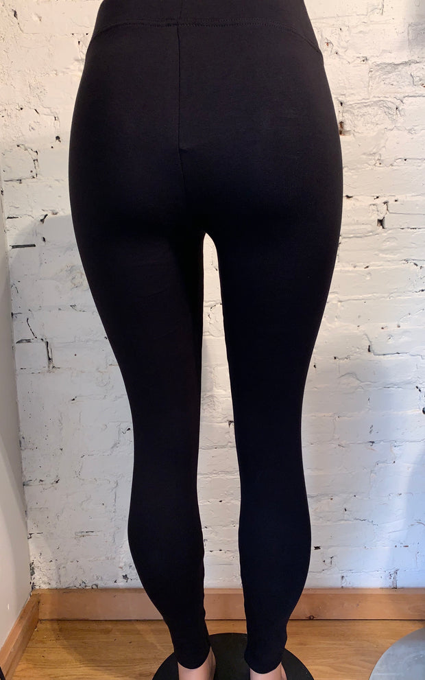 Hue Warm & Cozy Cotton Brushed Lining Leggings in Black
