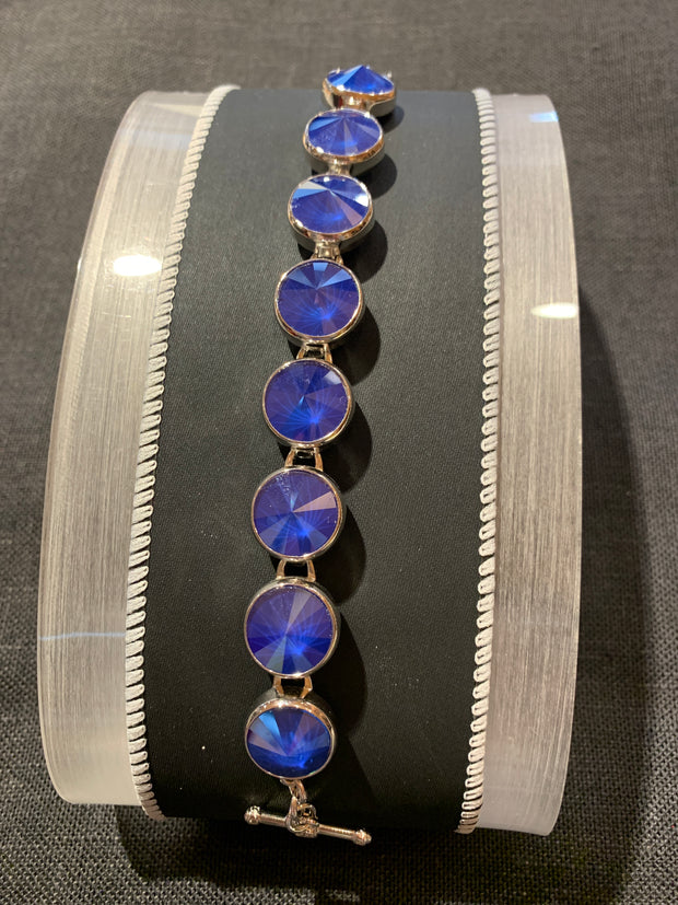 Myka B2118 Medium Rivoli Rhodium Bracelet