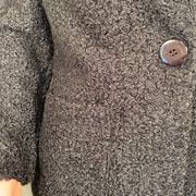 Soft Works Black Boucle Knit Tailored Collar Coat