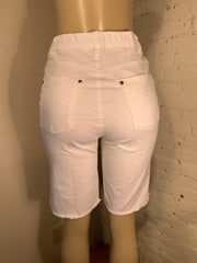 Hue Ultra Soft Denim Bermuda Shorts in 3 Colours: White, Black, Denim Blue