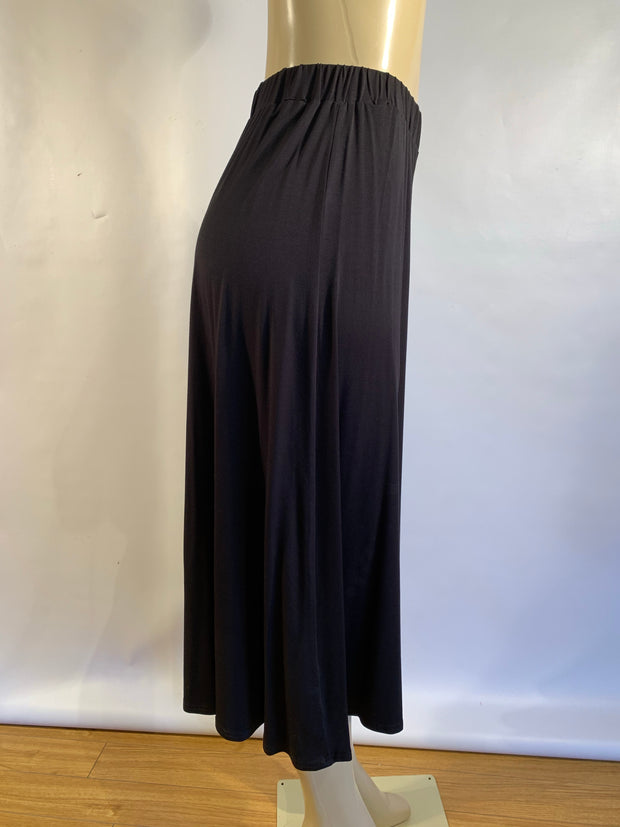 Pretty Woman Black Bamboo Pull On Culottes