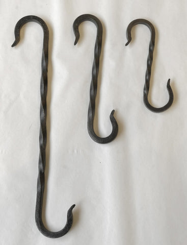 Wrought Iron Twisted S-Hook