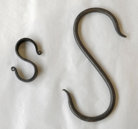 Plain Wrought Iron S-Hook