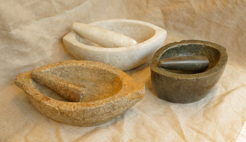 Stone and Marble Pestle and Mortar circa 1800-1890