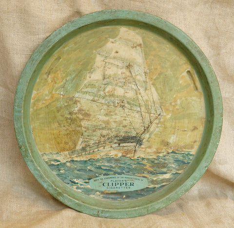 Players Tea Clipper Ship Round Tray