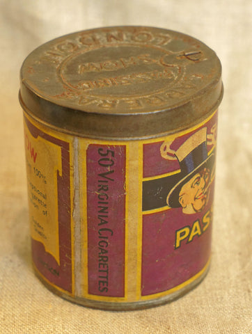 Passing Show Cigarettes Tin, circa 1920s