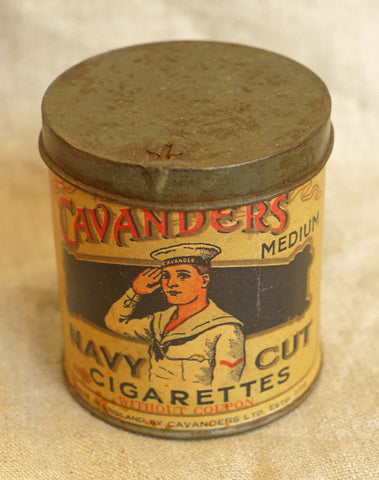 Cavanders Navy Cut Tobacco Tin, circa 1920s
