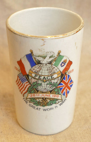 Treaty of Versailles China Peace Beaker Cup Dated 1919