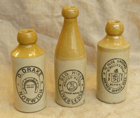 Antique Ginger Beer Bottles, circa. 1840-1910