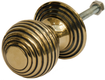Brass Beehive Cabinet Pull