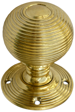 Large Brass Beehive Turning Handle