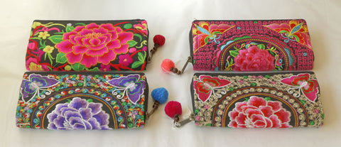 Silk Embroidered Purse