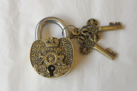 New Novelty Padlock with Two Keys