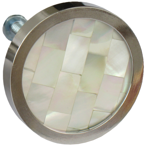 Inlaid Mother of Pearl Round Cabinet Knob (3 sizes)
