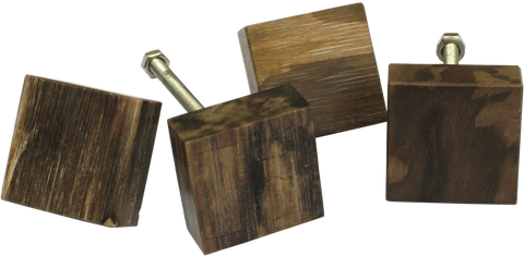Square Fossilised Wood Cabinet Pull