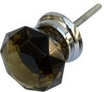 Olive Star Cut Crystal Cabinet Knob  Large