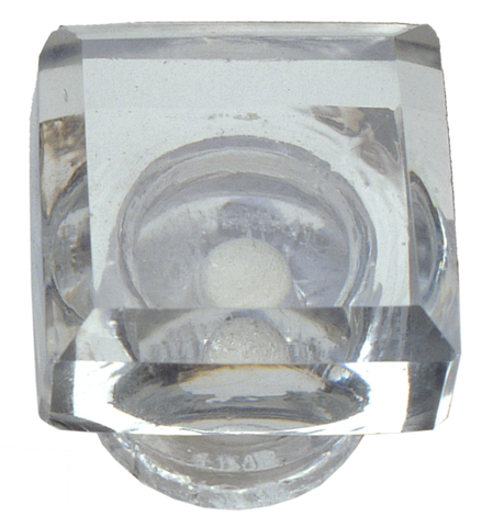 Clear Square Glass Knob (2 sizes)