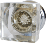 Crystal Star Square Cabinet Knob