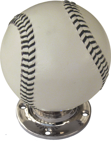 Baseball Turning Handle with Black Stitching Nickel Base