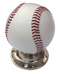 Baseball Turning Handle Red Stitching Nickel Base