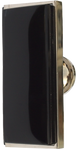 Inlaid Black Glass Rectangular Cabinet Knob