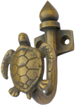 Turtle Hook in Antique Brass