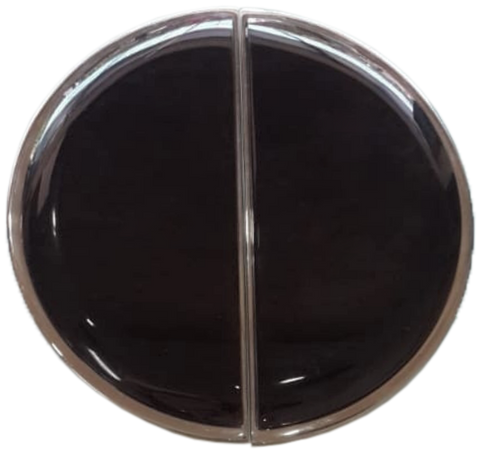 Inlaid Black Glass Moon Handle