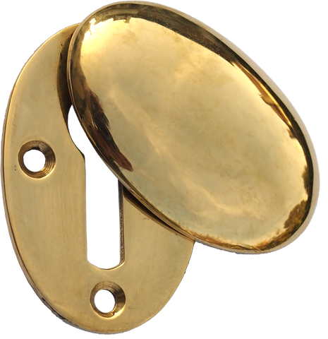 Oval Brass Key Escutcheon